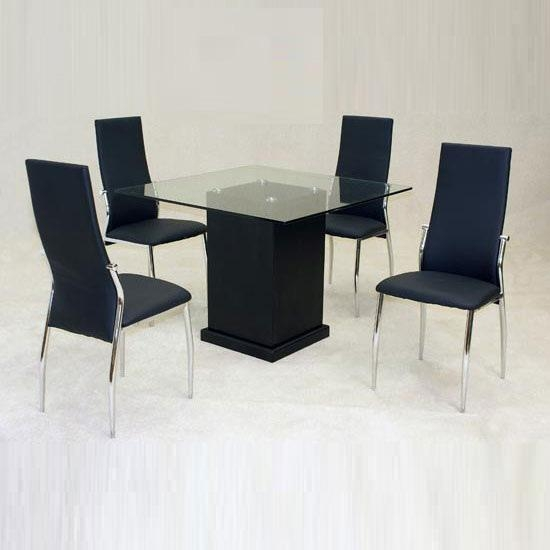 Odessa Dining Table With 4 Lazio Chairs 9297 Furniture In For Lazio Dining Tables (Image 20 of 20)