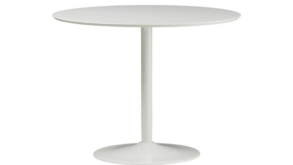 Odyssey White Tulip Dining Table | Cb2 In Small Round White Dining Tables (Image 13 of 20)
