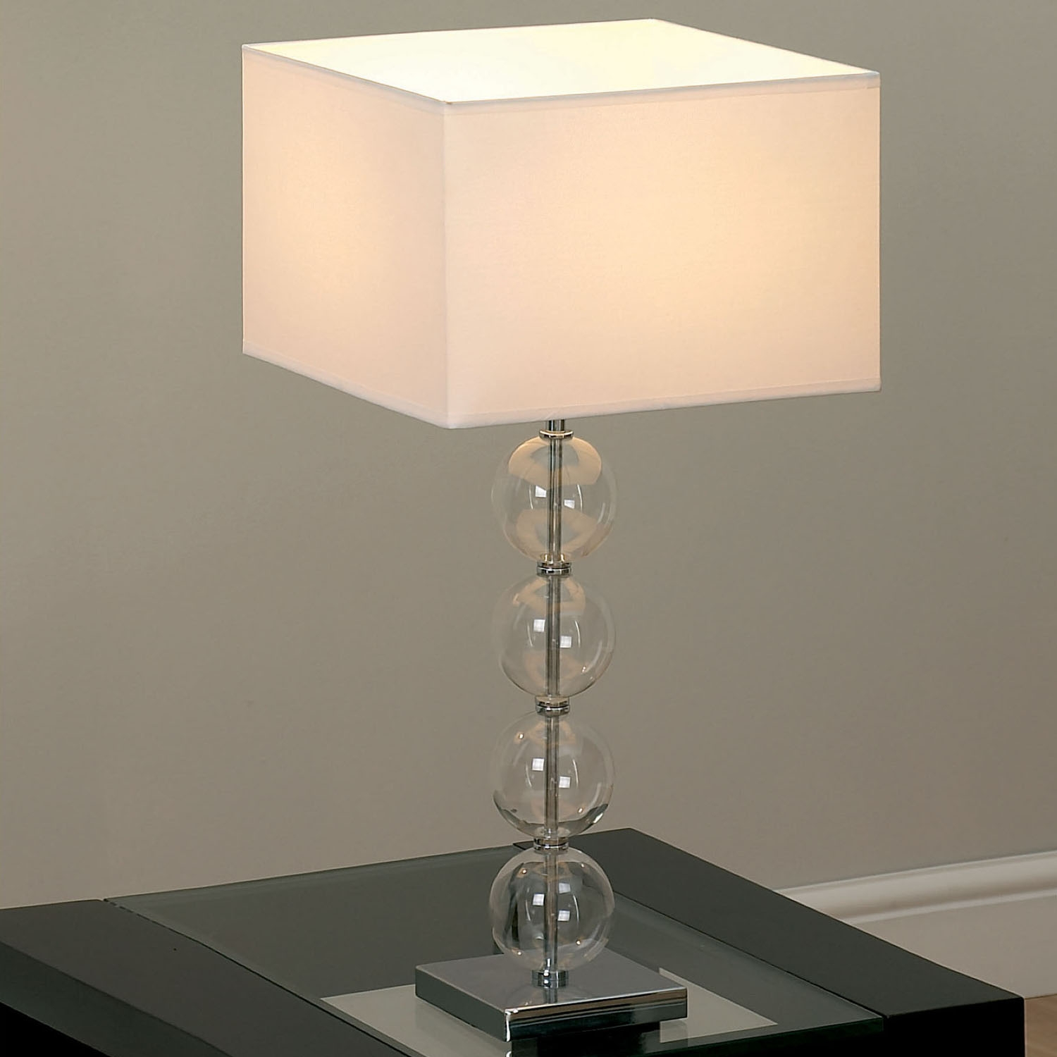 Of Endon Lighting Glass Ball Table Lamp With Square White Shade Intended For Endon Lighting Chandeliers (Image 24 of 25)