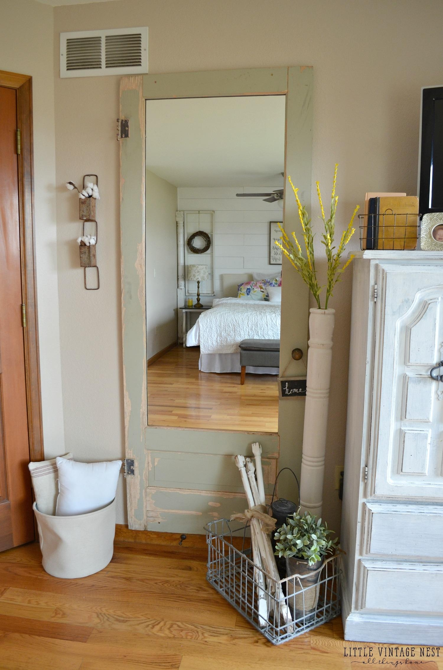 Old Door Turned Full Length Mirror – Little Vintage Nest With Vintage Full Length Mirror (Image 17 of 20)