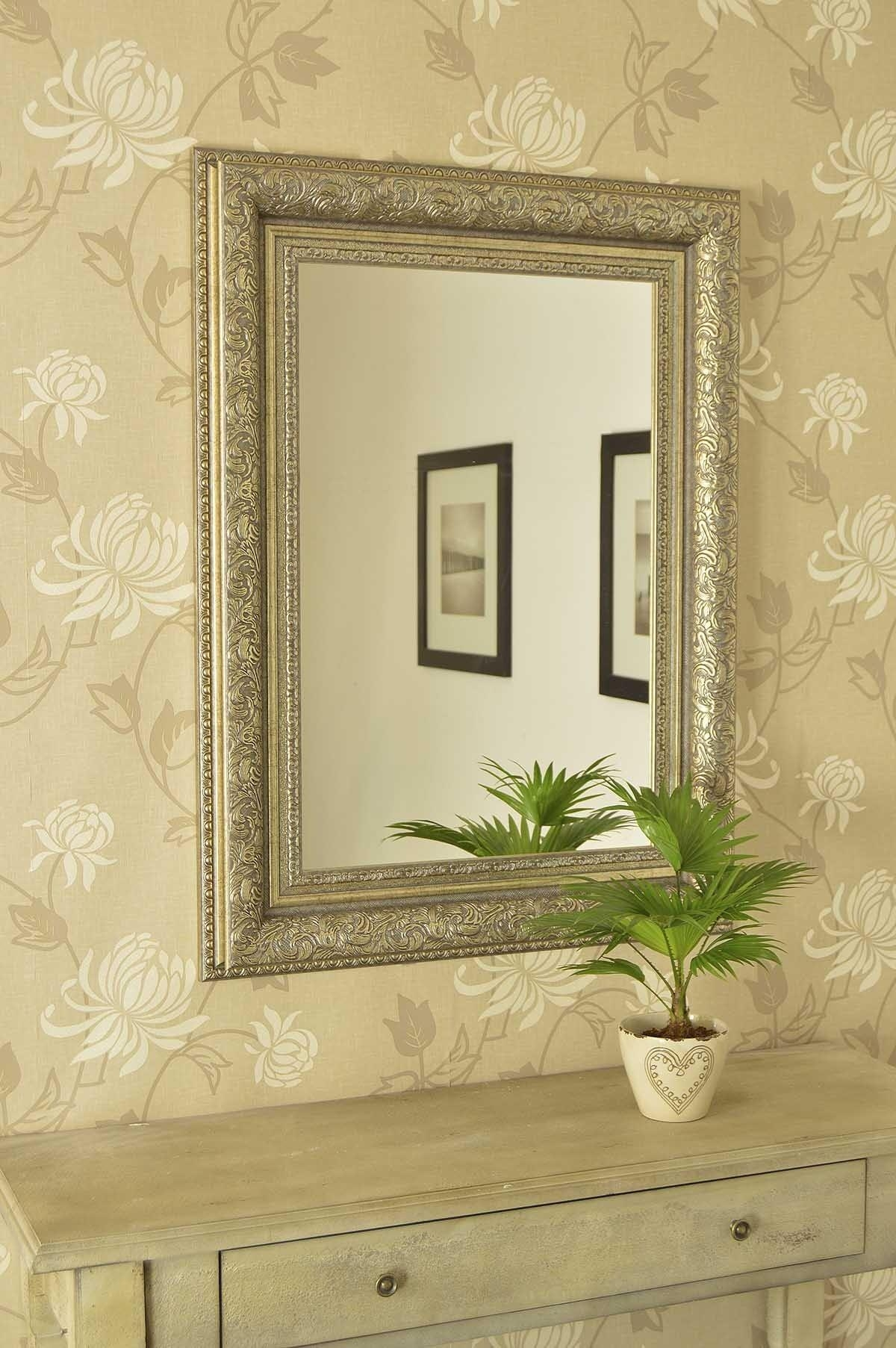 Old Fashioned Wall Mirrors Antique Mirror Wall Covering Vintage Within Antique Cream Wall Mirrors (View 7 of 20)