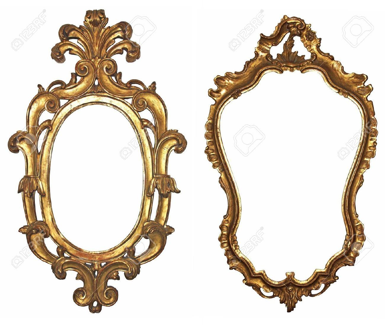 Old Gilded Wooden Frames For Mirrors Stock Photo, Picture And Intended For Ornamental Mirror (Image 12 of 20)