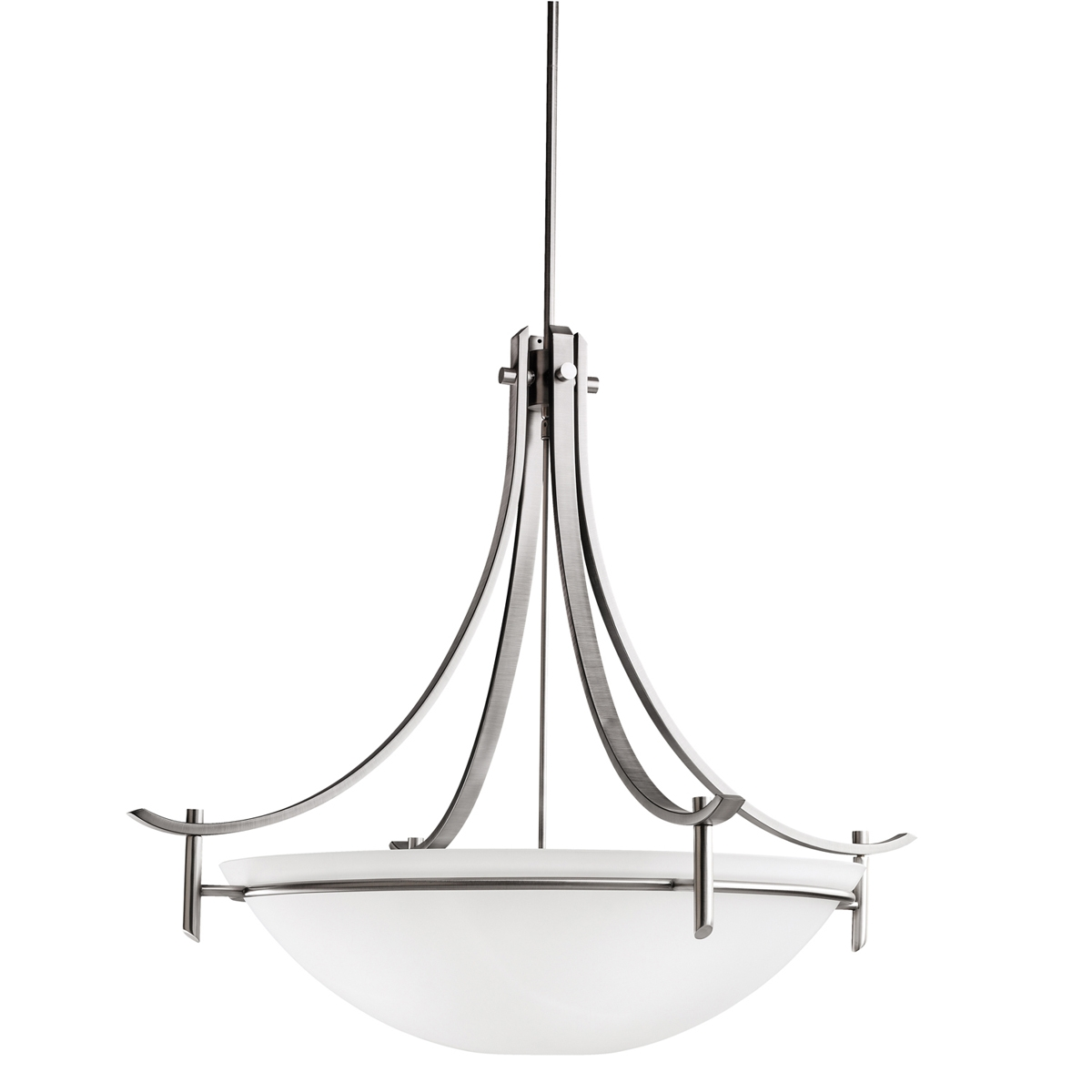 Olympia Collection 5 Light Inverted Pendant In Antique Pewter In Inverted Pendant Chandeliers (Image 18 of 25)