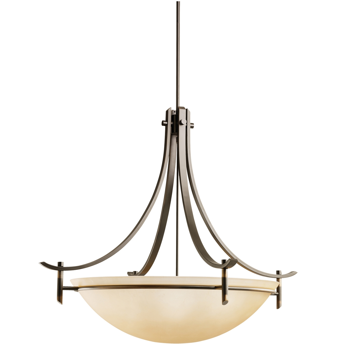 Olympia Collection 5 Light Inverted Pendant In Antique Pewter With Regard To Inverted Pendant Chandeliers (Image 19 of 25)