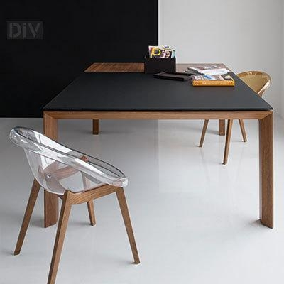 Omnia Glass Square Extendable Dining Table. Dining Tables (View 3 of 20)