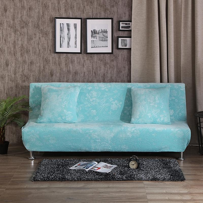Online Get Cheap Blue Couch Slipcover  Aliexpress | Alibaba Group Pertaining To Armless Couch Slipcovers (Image 8 of 20)
