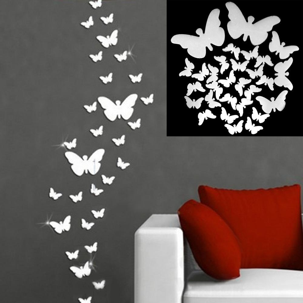 Online Get Cheap Butterfly Wall Mirror  Aliexpress | Alibaba Group Inside Butterfly Wall Mirrors (Image 7 of 20)
