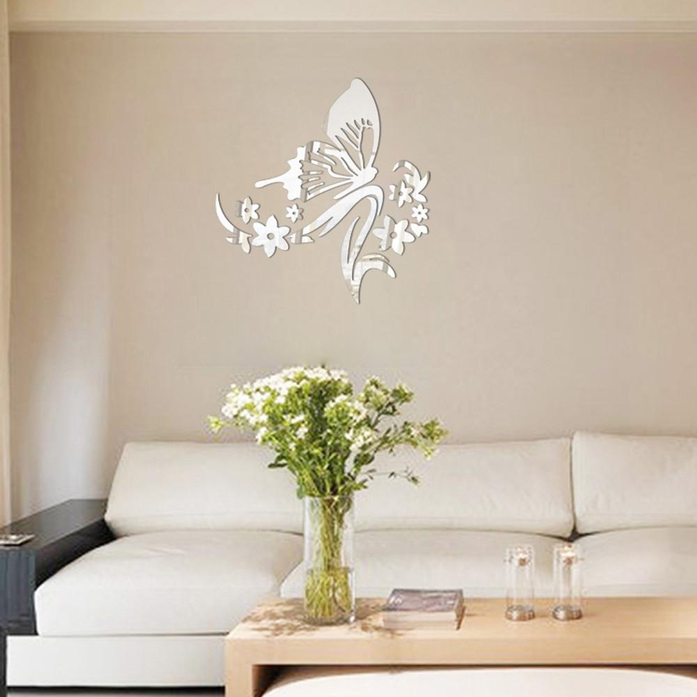 Online Get Cheap Butterfly Wall Mirror  Aliexpress | Alibaba Group With Regard To Butterfly Wall Mirrors (Image 9 of 20)