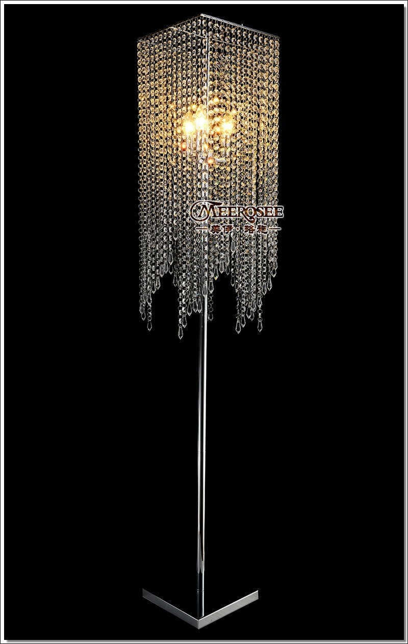 Online Get Cheap Crystal Floor Lamps Aliexpress Alibaba Group With Regard To Chandelier Standing Lamps (Image 20 of 25)