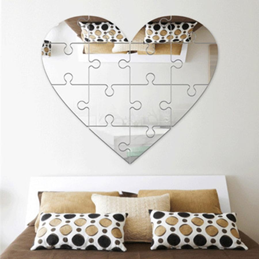Online Get Cheap Gold Mirror Tiles  Aliexpress | Alibaba Group Throughout Heart Shaped Mirror For Wall (Image 11 of 20)