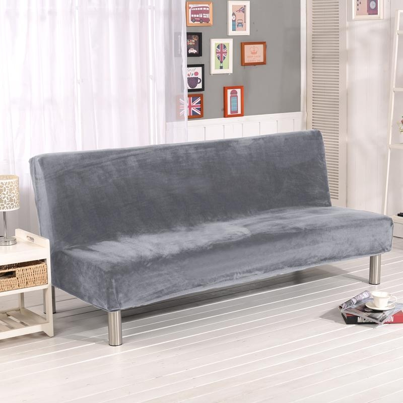 Online Get Cheap Gray Couch Covers  Aliexpress | Alibaba Group Throughout Armless Couch Slipcovers (Image 9 of 20)