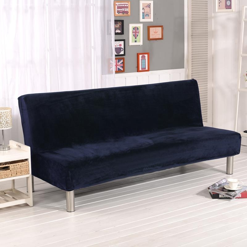 Online Get Cheap Navy Sofa Slipcover  Aliexpress | Alibaba Group With Armless Couch Slipcovers (Image 10 of 20)