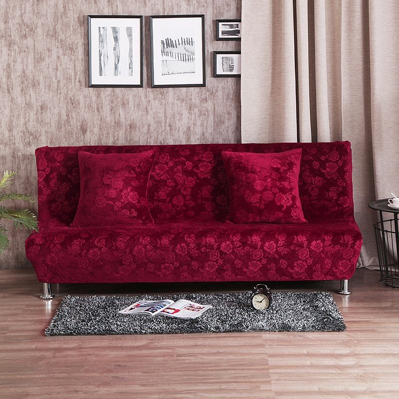 Online Get Cheap Red Couch Covers  Aliexpress | Alibaba Group In Armless Couch Slipcovers (Image 12 of 20)