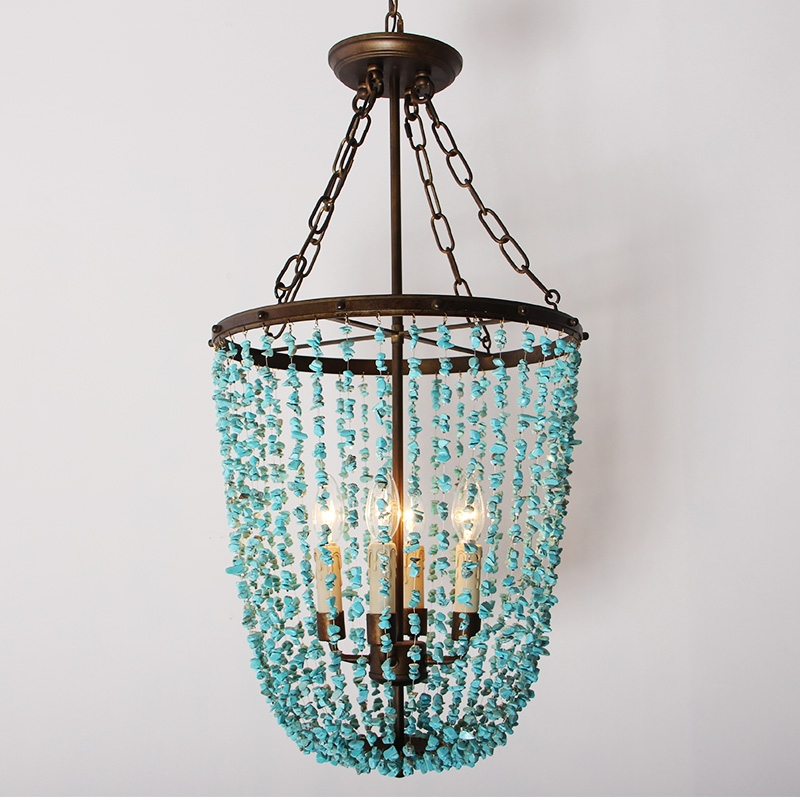 Online Get Cheap Turquoise Lamp Aliexpress Alibaba Group Pertaining To Turquoise Stone Chandelier Lighting (View 12 of 25)