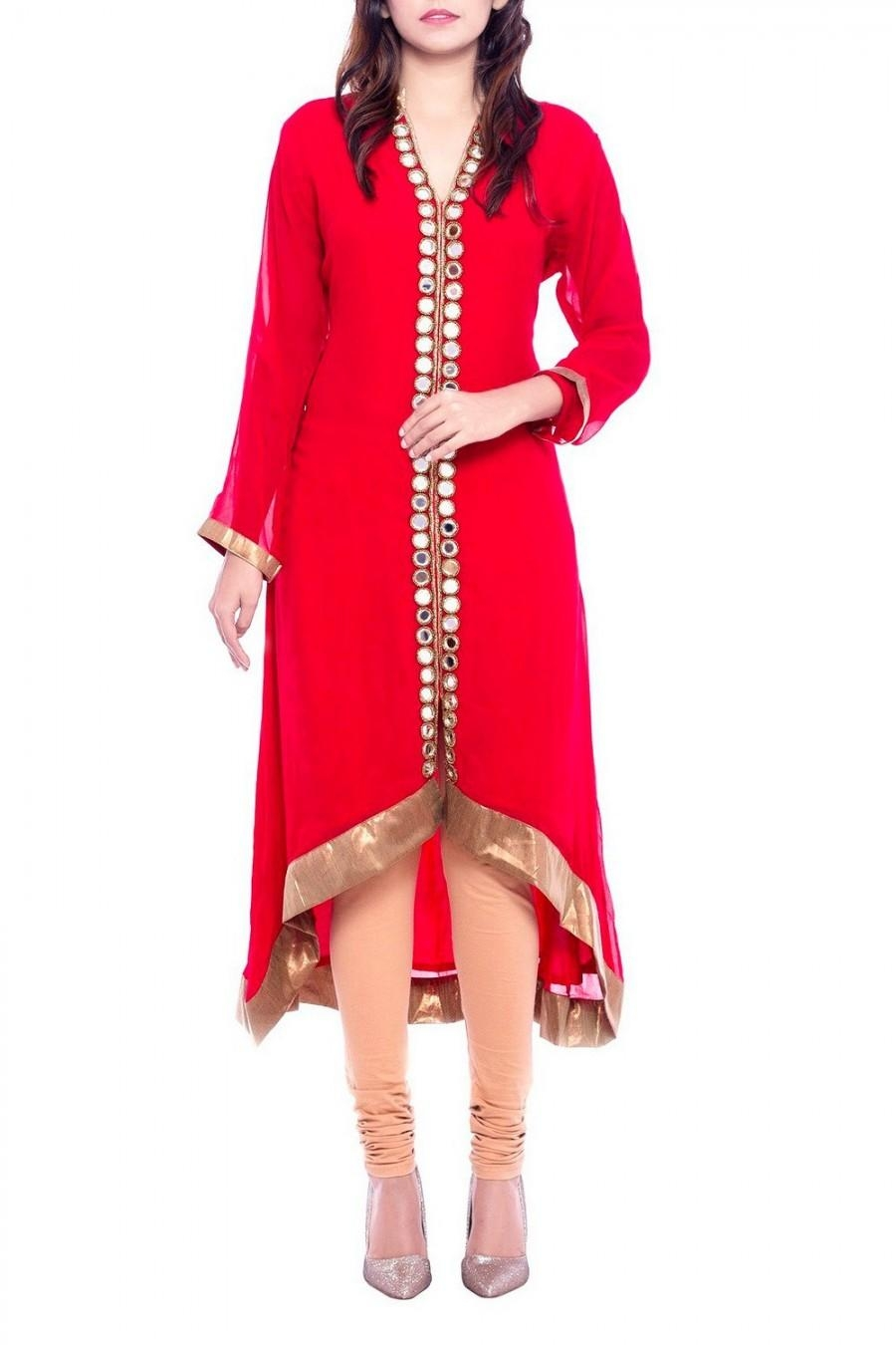 Online Shopping Red Mirror Work Kurti | 534842 Regarding Online Shopping Mirror (Image 16 of 20)