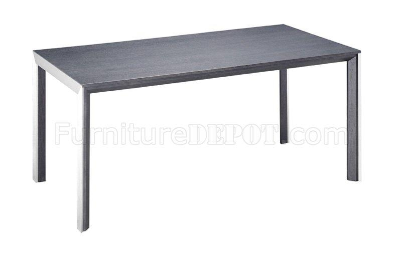 Or White Glass Top Dining Table With Brushed Steel Frame With Regard To Brushed Metal Dining Tables (Image 17 of 20)