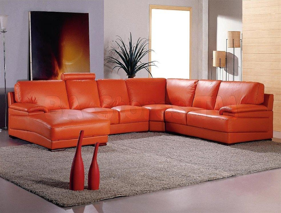 Orange Leather Sofa | Design Your Life Inside Burnt Orange Sofas (Image 11 of 14)