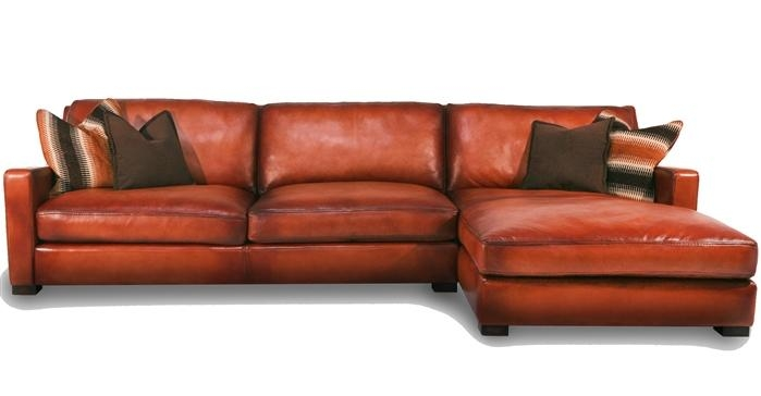 Orange Leather Sofa In Burnt Orange Sofas (Image 12 of 14)