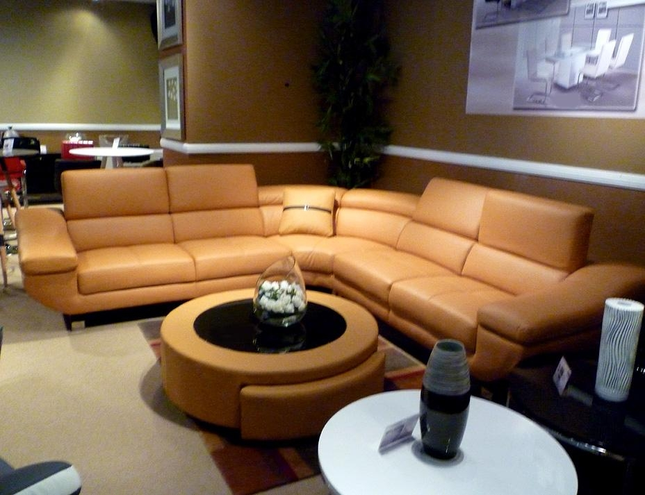 Orange Modern Sectional Sofa B68 | Leather Sectionals Intended For Orange Sectional Sofas (View 19 of 20)