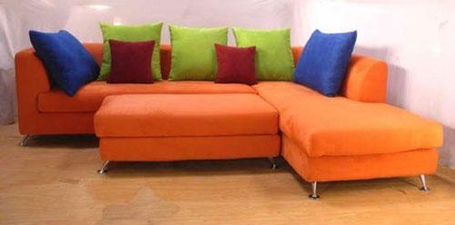 Orange Sectional Sofa – Betterimprovement Regarding Orange Sectional Sofas (View 5 of 20)