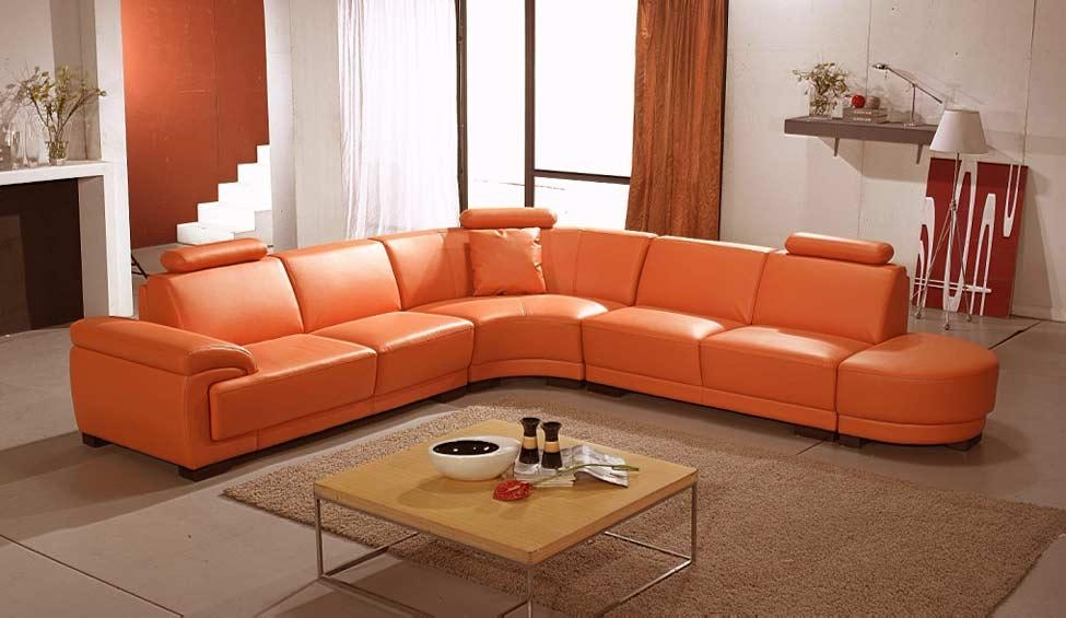 Orange Wave Sofa | Leather Sectionals Pertaining To Orange Sectional Sofas (View 15 of 20)