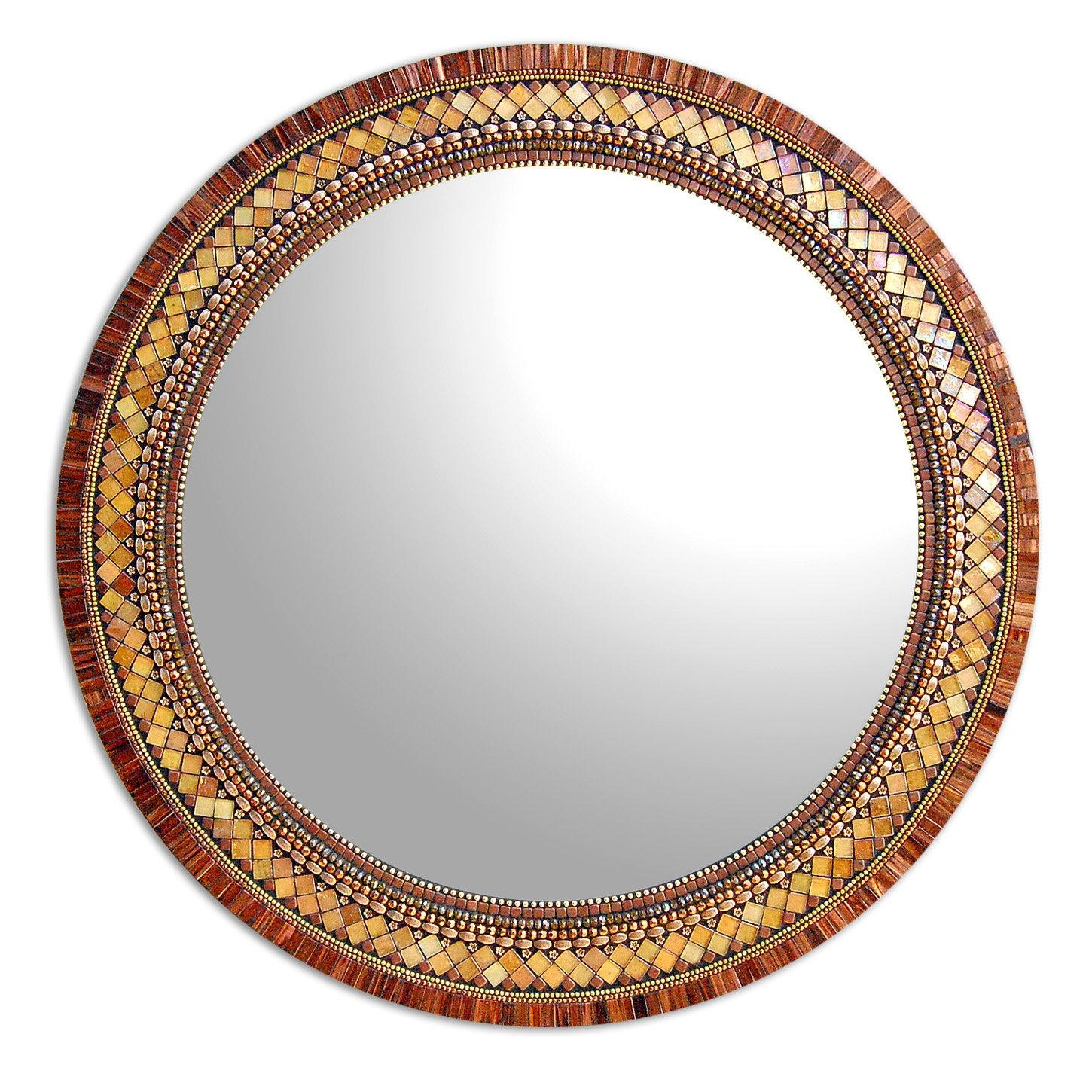 Original Art Mirrors Madenorth American Artists | Artful Home With Round Mosaic Mirrors (Image 14 of 20)