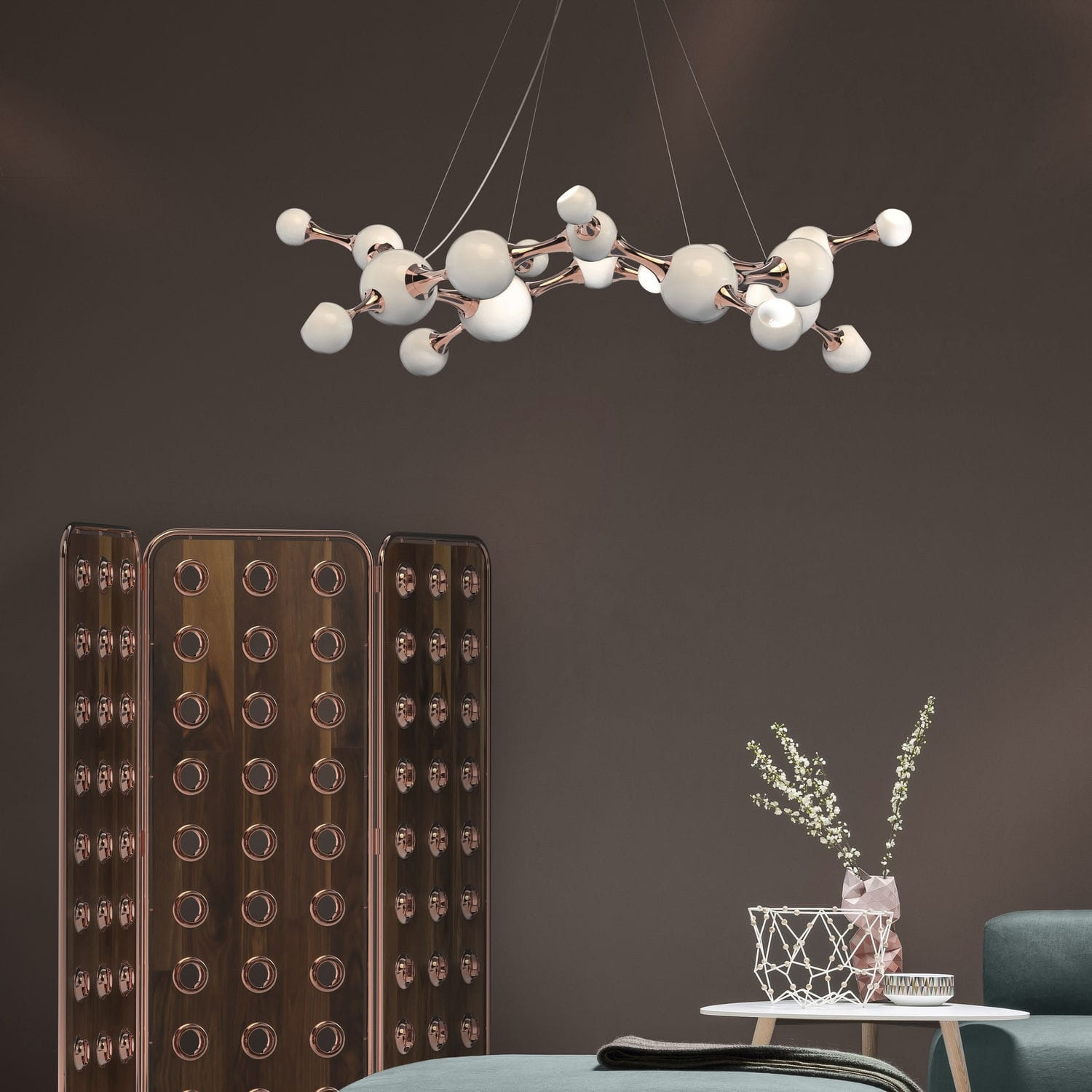 Original Design Chandelier Brass Steel Atomic Round Regarding Atom Chandeliers (Image 18 of 25)