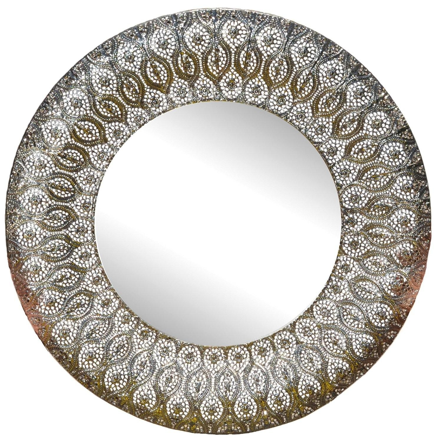 Ornamental Round Metal Wall Mirror – Wall Mirror With Regard To Ornamental Mirror (Image 16 of 20)