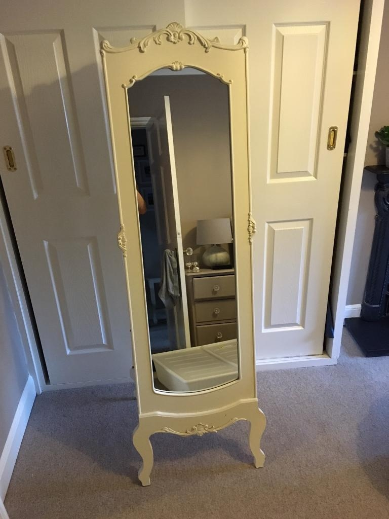 Ornate Cream Freestanding Cheval Mirror | In Cheltenham Inside Cream Cheval Mirror (View 14 of 20)
