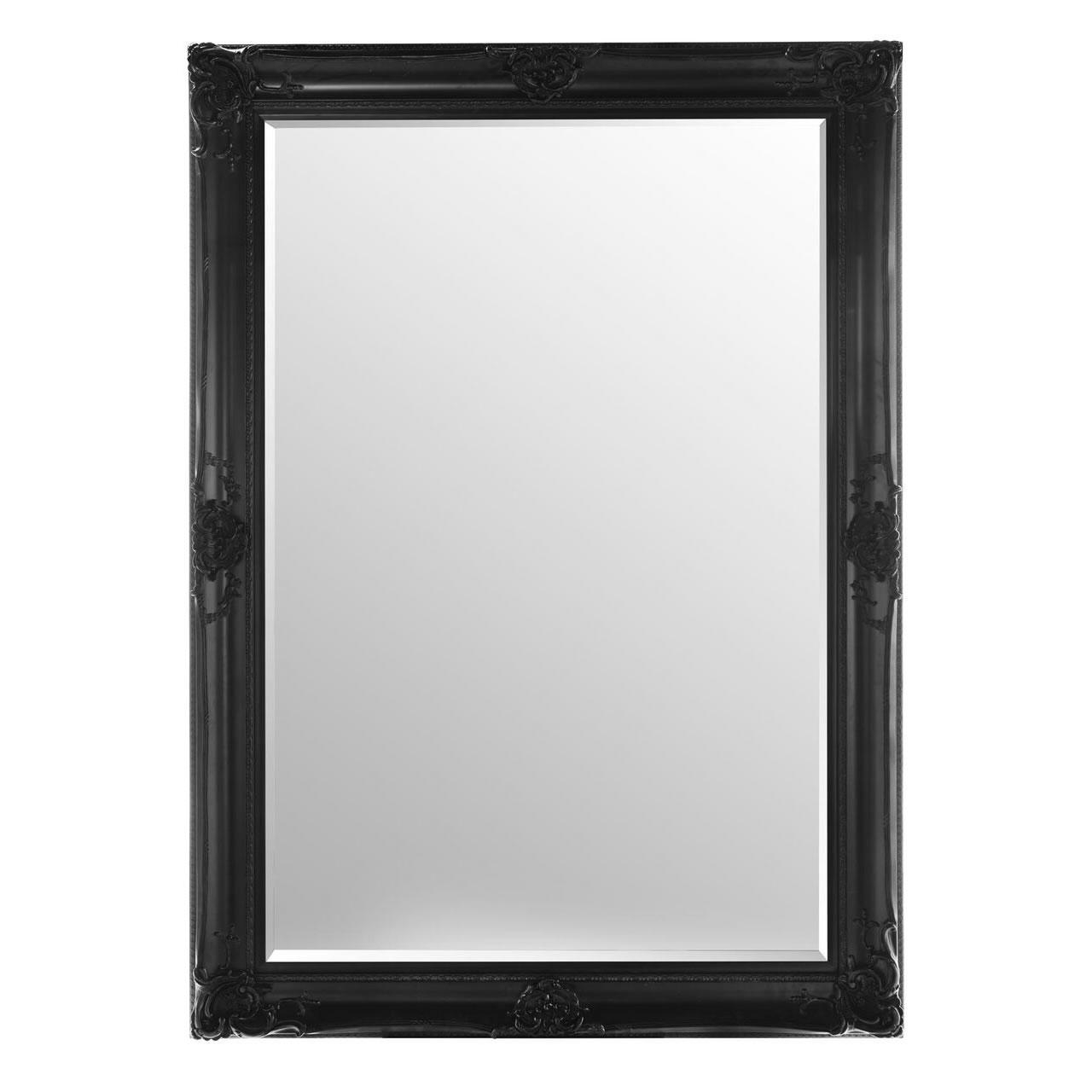 Ornate Framed Mirrors Regarding Large Black Vintage Mirror (Image 13 of 20)
