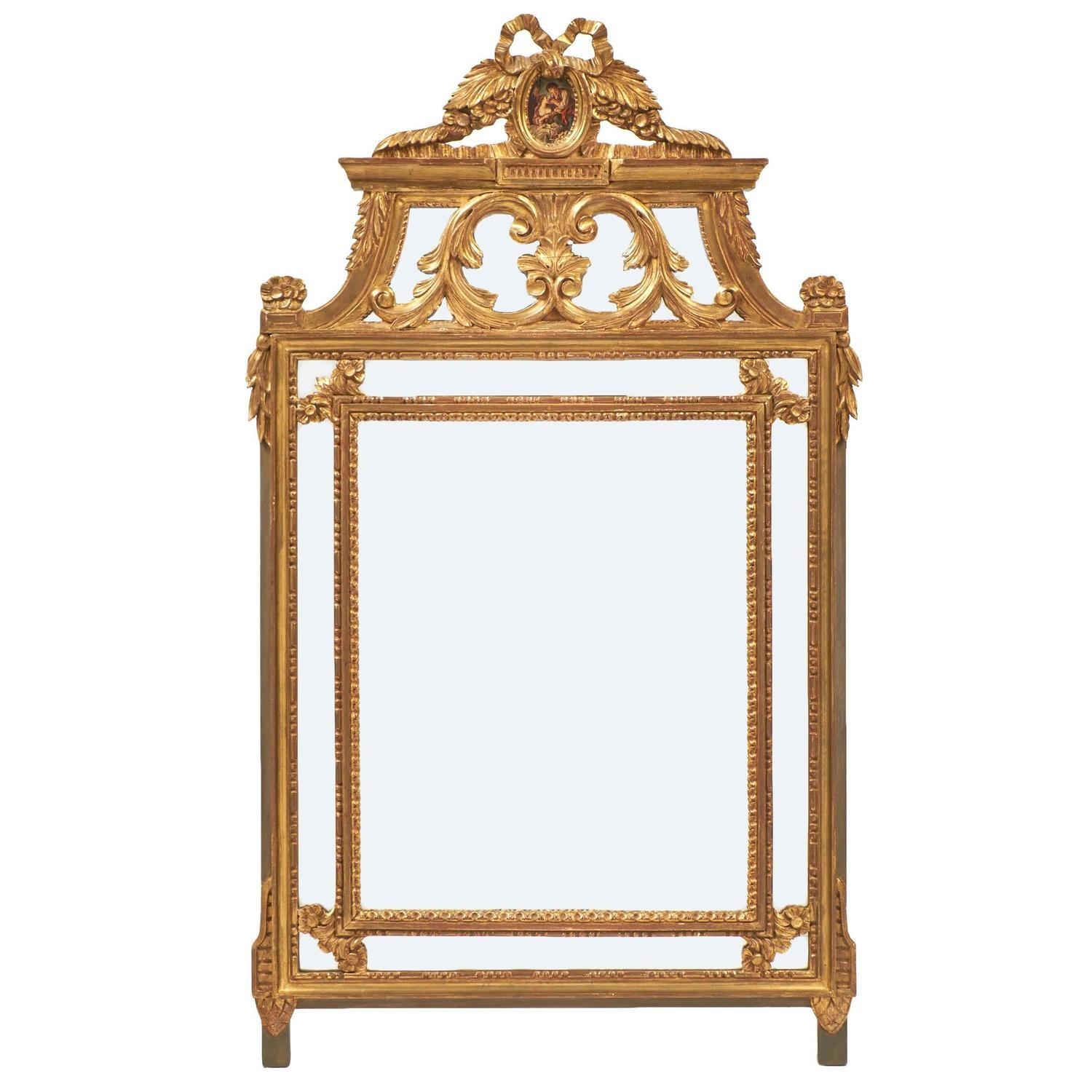 Ornate Gold Leaf Louis Xvi Mirror – Jean Marc Fray With Regard To Gold Ornate Mirrors (View 12 of 20)
