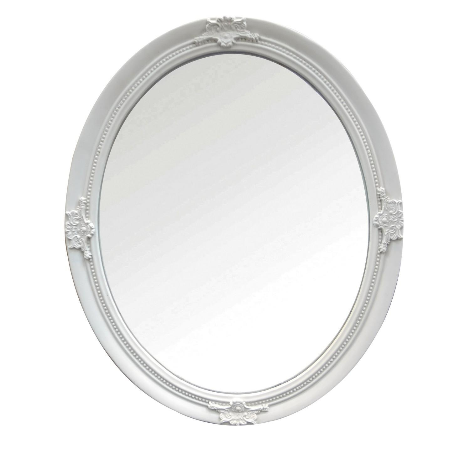 Ornate Ivory Oval Mirror With Ornate Oval Mirrors (Image 11 of 20)