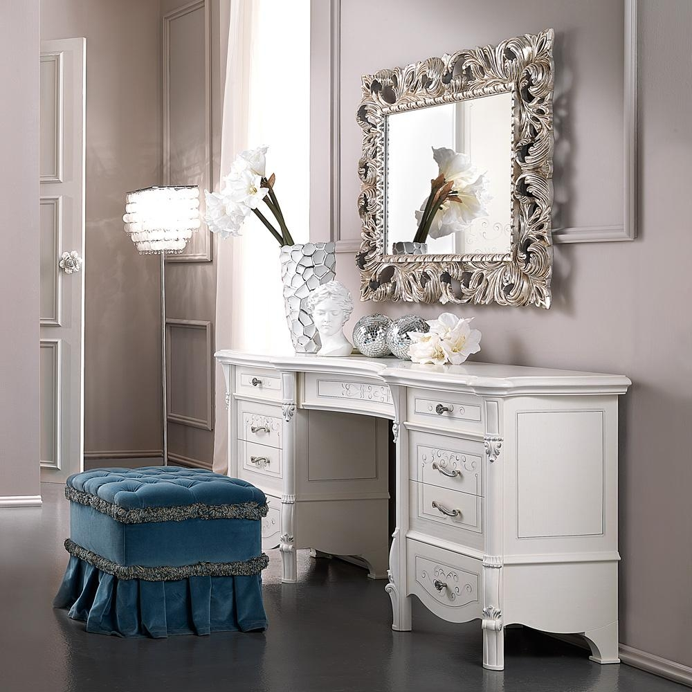 Ornate Silver Leaf Rococo Wall Mirror | Juliettes Interiors With Ornate White Mirrors (View 20 of 20)
