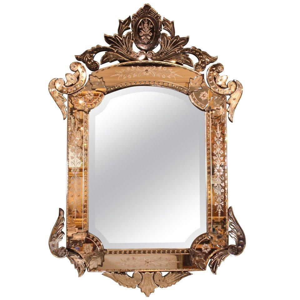 Ornate Venetian Rococo Mirror For Sale At 1Stdibs Regarding Roccoco Mirror (Image 15 of 20)