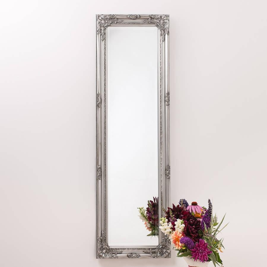 Ornate Vintage Silver Pewter Mirror Full Lengthhand Crafted Inside Ornate Floor Length Mirror (Image 17 of 20)