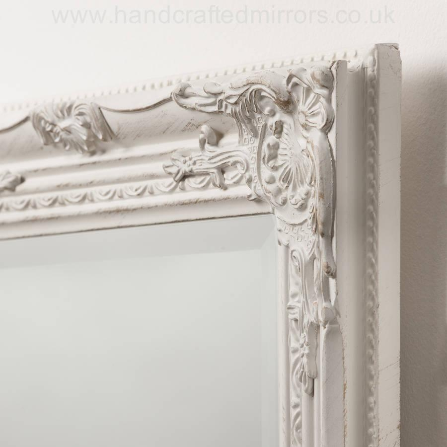 Ornate Vintage Silver Pewter Mirror Full Lengthhand Crafted Within Ornate White Mirrors (View 17 of 20)