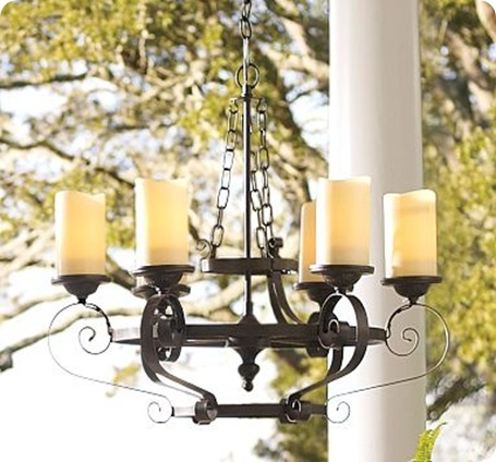Outdoor Candle Chandelier Within Hanging Candle Chandeliers (Image 19 of 25)
