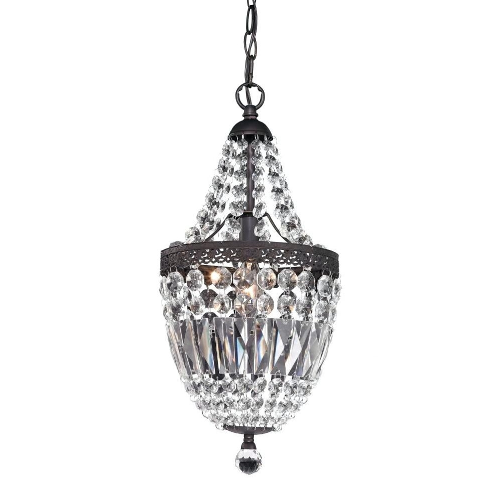 Outdoor Hanging Chandelier Mini Chrome Crystal Chandelier For Regarding Wall Mounted Chandeliers (Image 12 of 25)