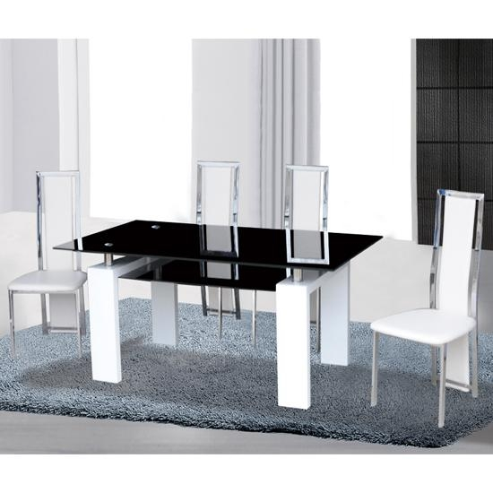 Outstanding Black Glass Dining Table And 6 Chairs Metro Deluxe With Regard To Metro Dining Tables (Image 20 of 20)