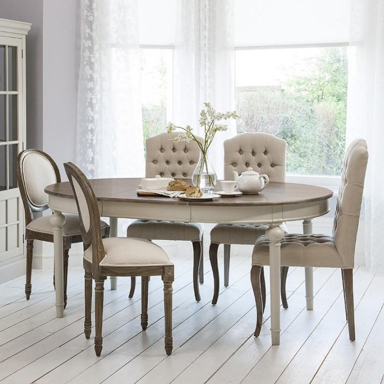 Outstanding French Style Dining Table And Chairs Hand Painted Within Shabby Chic Extendable Dining Tables (Image 11 of 20)