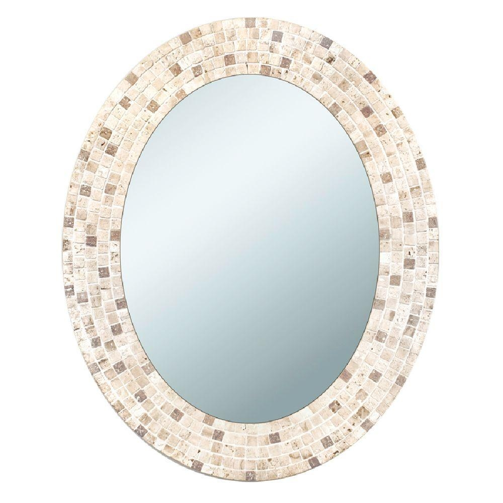 Oval – Bathroom Mirrors – Bath – The Home Depot For Funky Round Mirrors (Image 17 of 20)