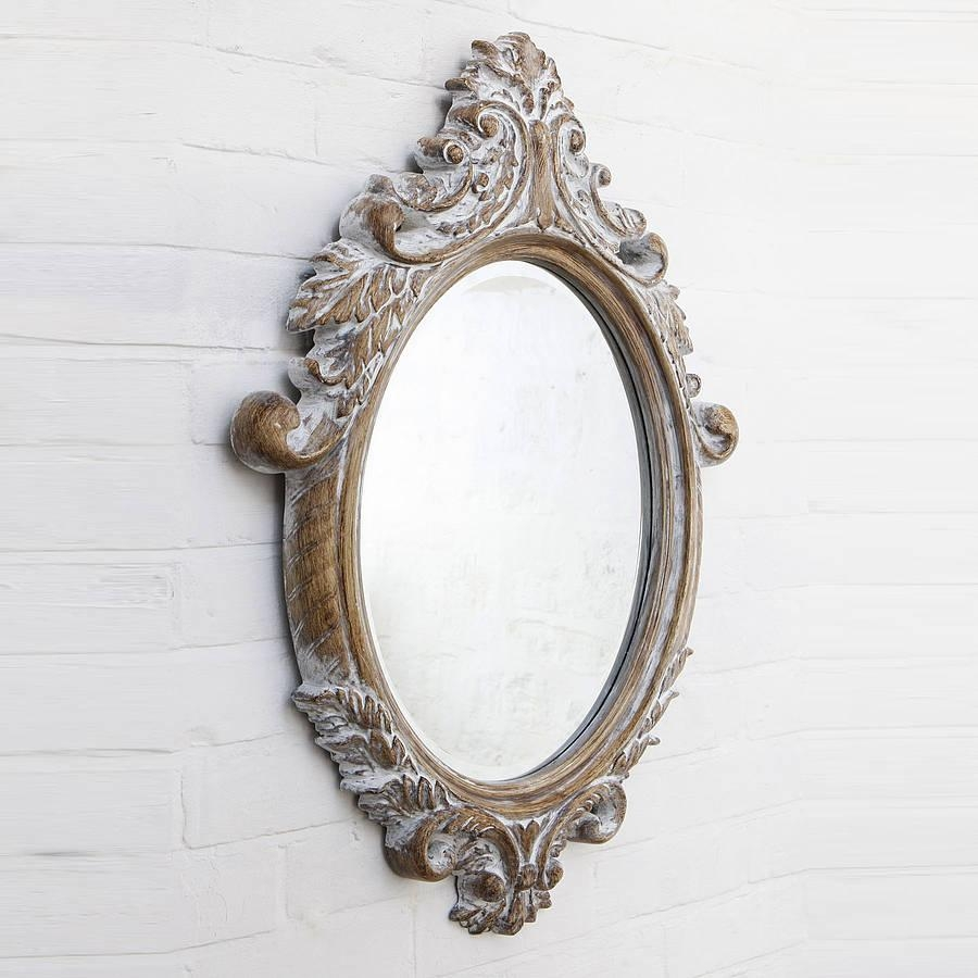 Oval Bevelled Ornate Mirrorhand Crafted Mirrors With Ornate Oval Mirrors (Image 13 of 20)