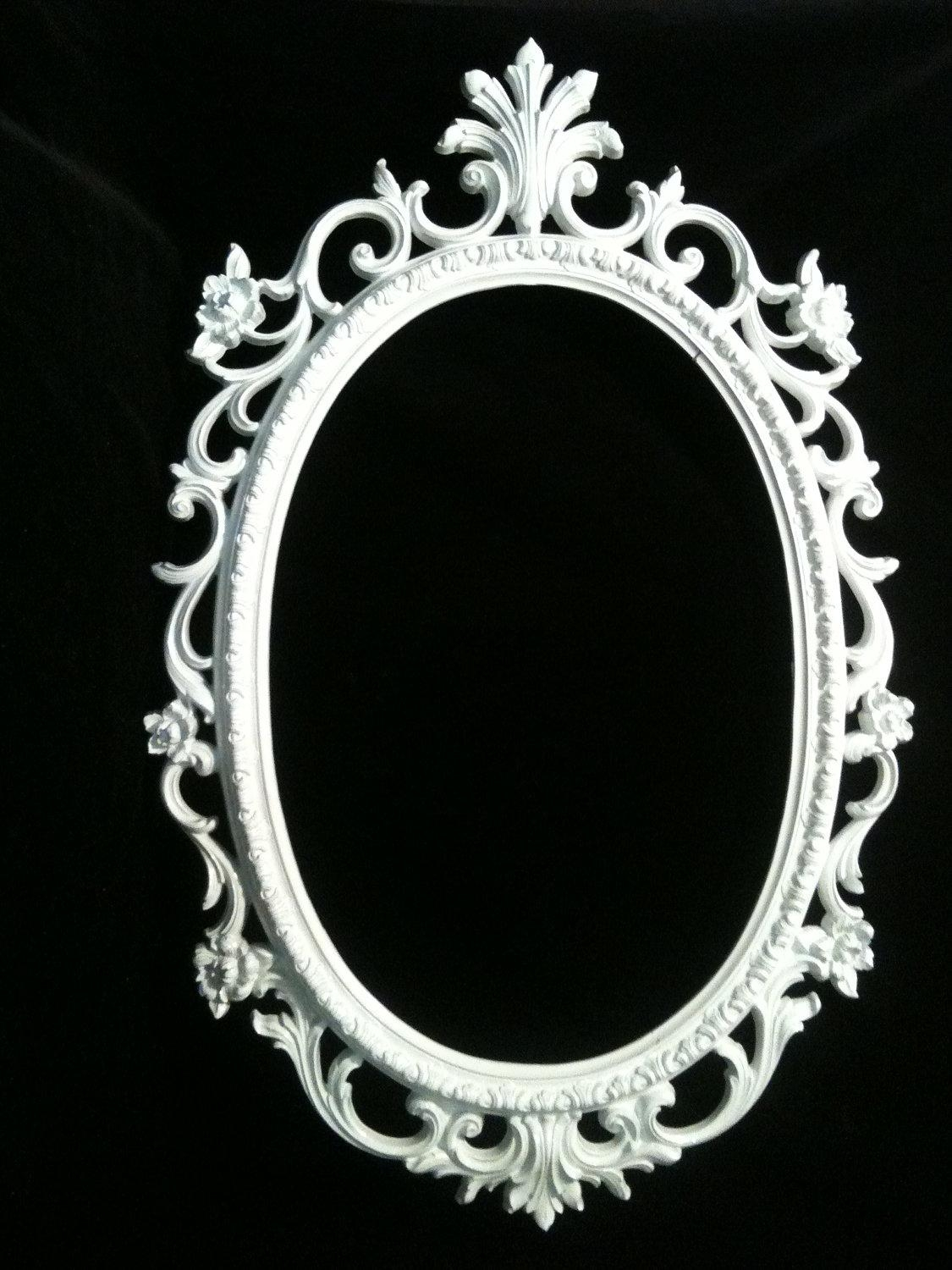 Oval Black Framed Mirror 119 Unique Decoration And Ornate Oval With Ornate Oval Mirrors (Image 14 of 20)