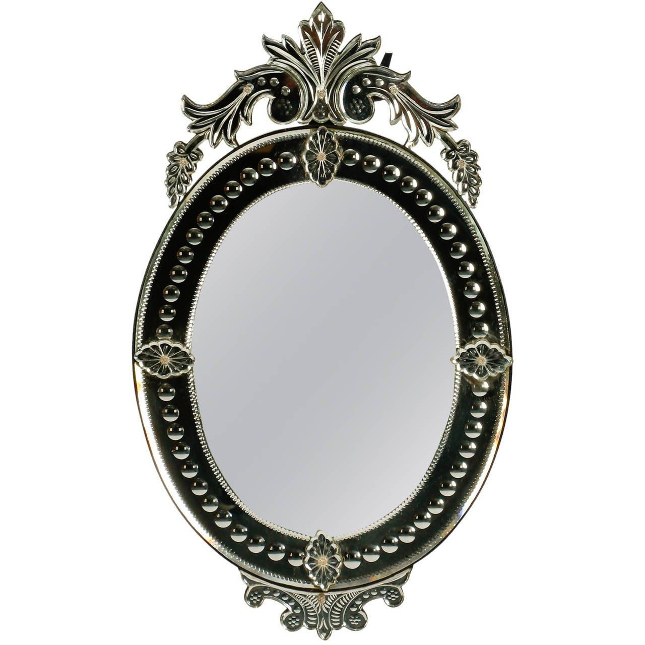 Oval Venetian Mirror With Crown At 1Stdibs With Venetian Oval Mirror (Image 14 of 20)