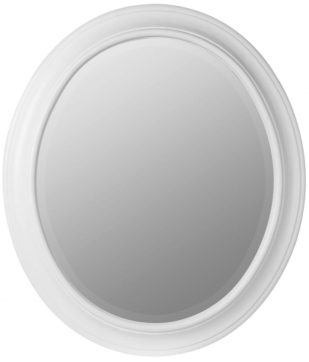 Oval White Framed Mirror – Harpsounds (Image 17 of 20)
