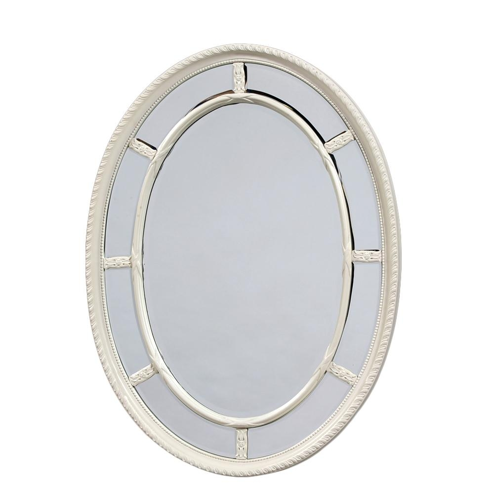 Oval White Mirror, Small Oval Mirror Antique Oval Mirror White Intended For Antique White Oval Mirror (Image 18 of 20)