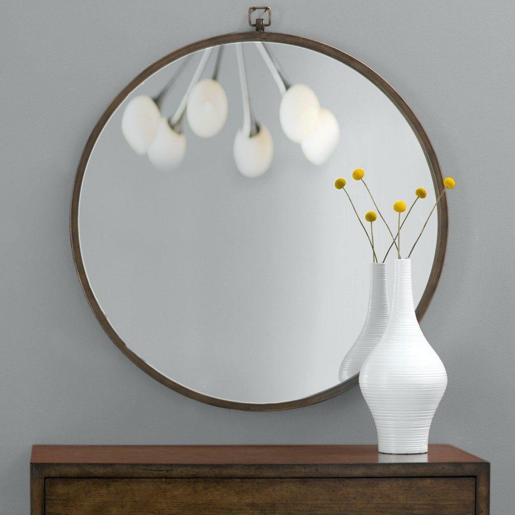 Top 20 Large Round Gold Mirror Mirror Ideas