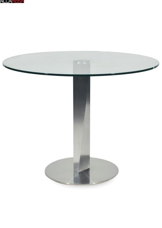 Oviedo Dining Table | Smoked / Brushed Steel – Dining Modern Furniture Throughout Brushed Metal Dining Tables (Image 18 of 20)