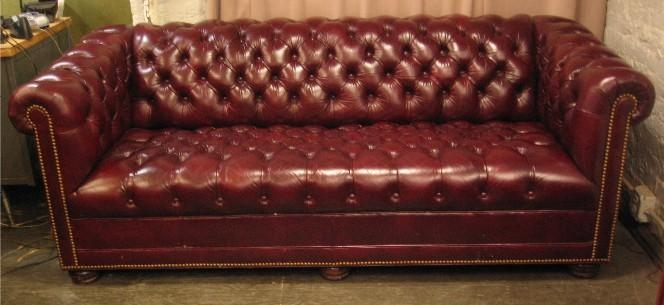 Oxblood Leather Chesterfield Sofaleathercraft *sold* – White With Red Leather Chesterfield Sofas (View 19 of 20)