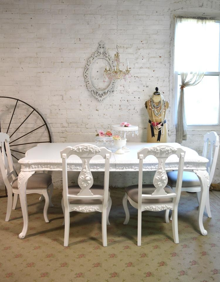 Painted Cottage Dining Table With French Chic Dining Tables (Image 19 of 20)